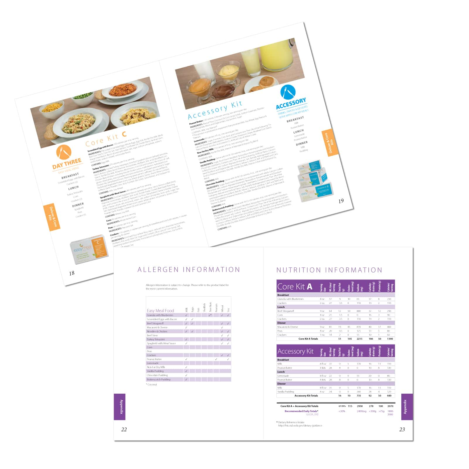 Illustration, Photography and Book Design for Easy Meal Food Service