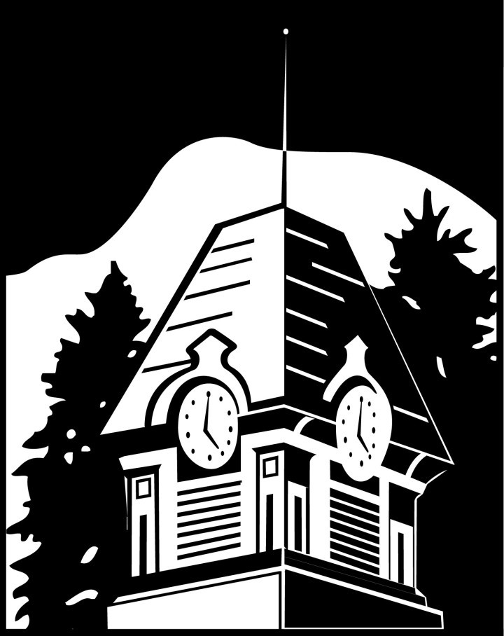 Illustration of Clocktower for OSU Folk Club