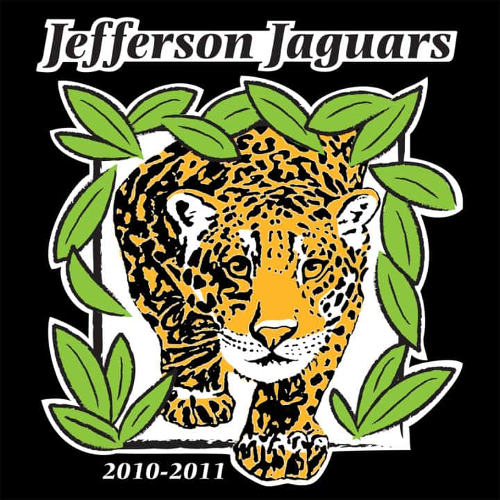 Illustration of Jaguar for T-shirt