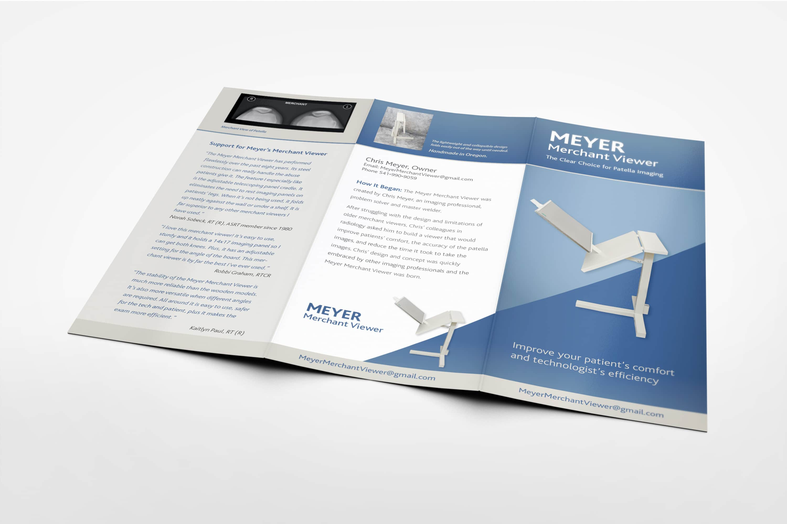 Graphic Design of trifold brochure exterior