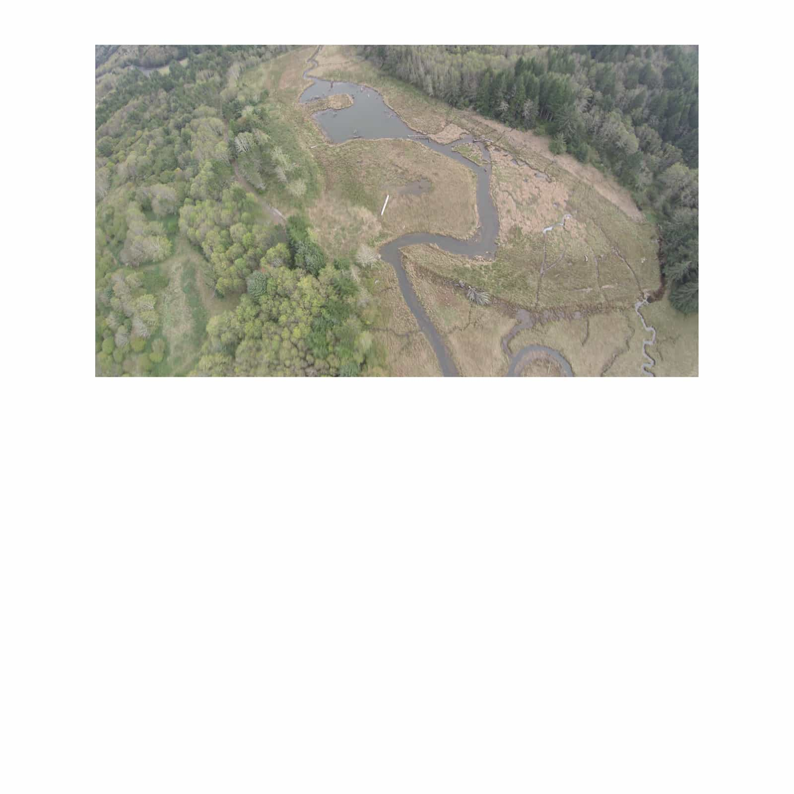 Aerial Photography the Salmon River Estuary