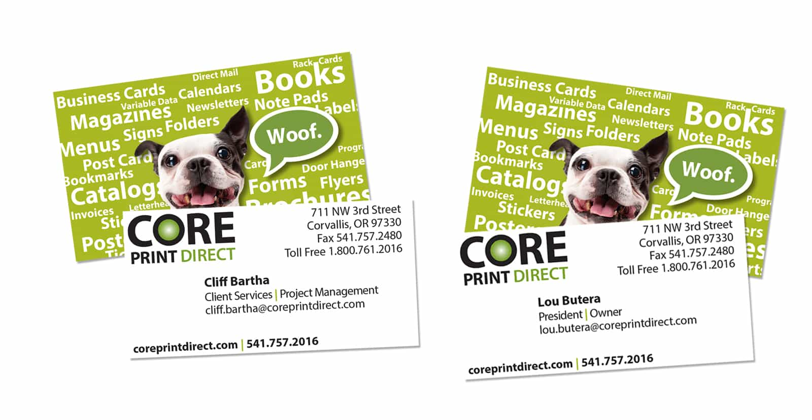 Graphic Design of Business Card