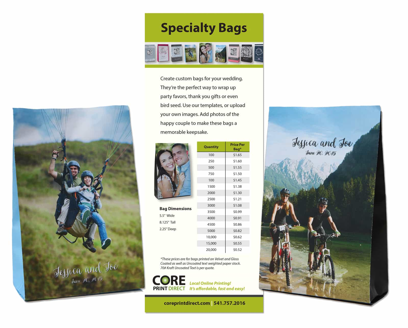 Website Graphics Wedding Bag Products and Print Sales Sheet