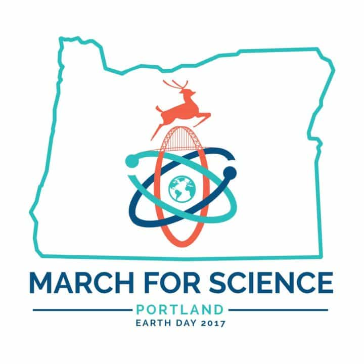 Design and Illustration of Portland Science March logo