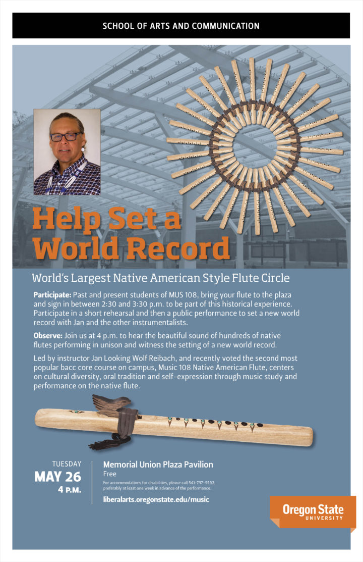 Poster to promote Native American Style Flute Circe